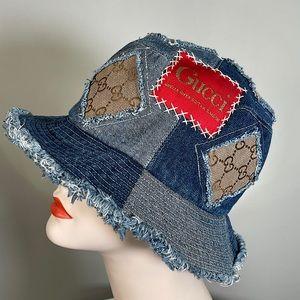 Custom Gucci denim bucket hat unisex Vtg one size